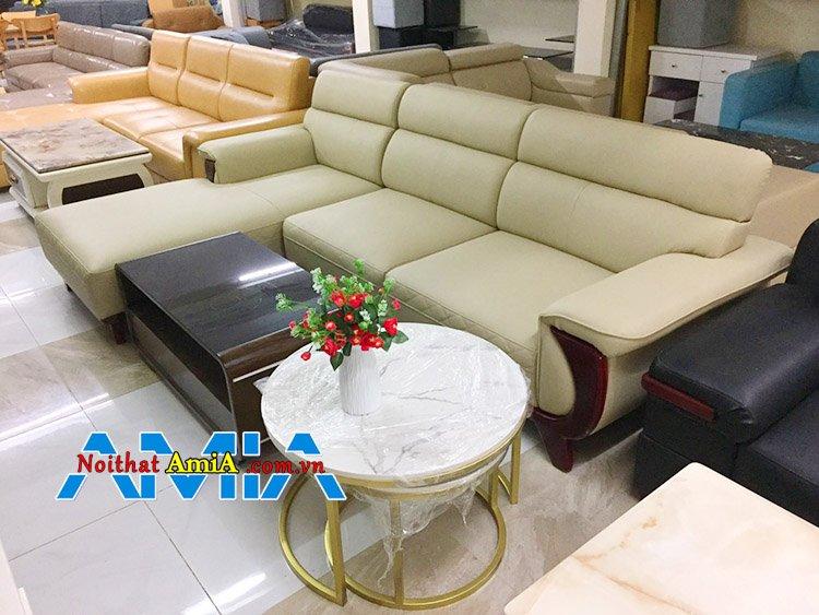 Mẫu 7: Sofa da đẹp Hà Nội nhập khẩu Hàn Quốc