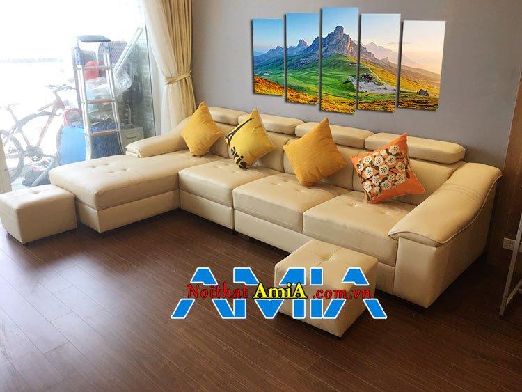 Mẫu ghế sofa góc chung cư phổ thông
