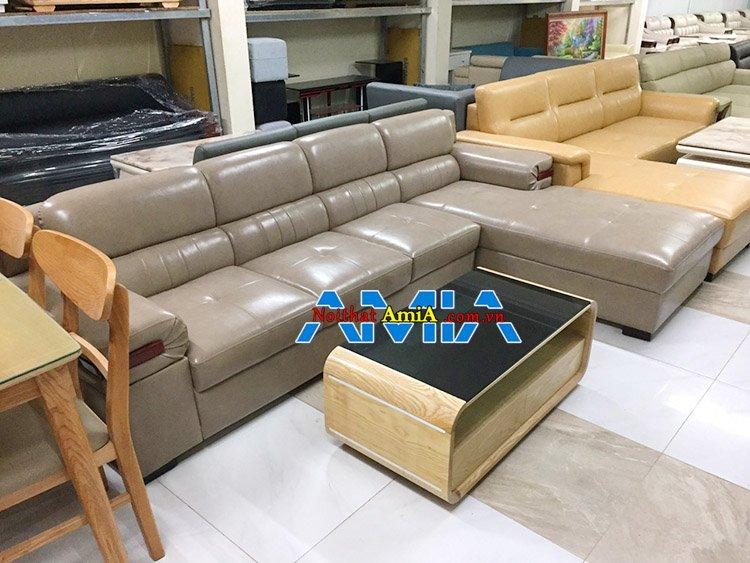 Hình ảnh bộ sofa góc Hà Nội tại showroom Nội Thất AmiA Nguyễn Xiển