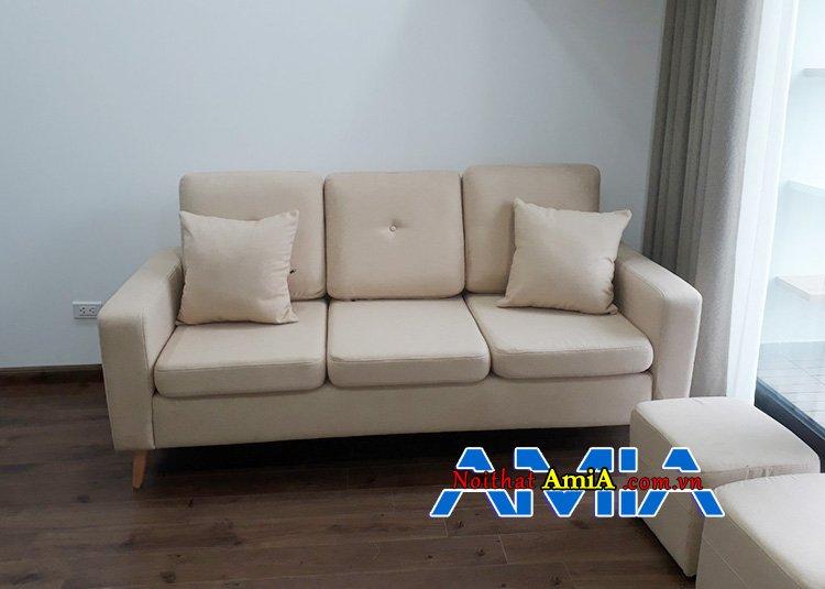 Hình ảnh Mẫu ghế sofa nỉ giá rẻ 6 triệu đẹp