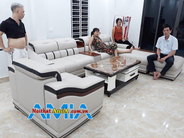 Mẫu ghế sofa phòng khách giá xưởng Mã SFD124 cao cấp