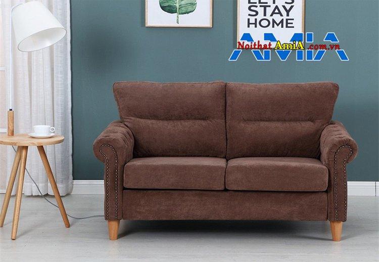 sofa văng cho quán Cafe màu nâu đậm mã SFN199285