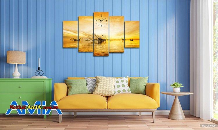 Ảnh mẫu ghế sofa văng hiện đại màu vàng