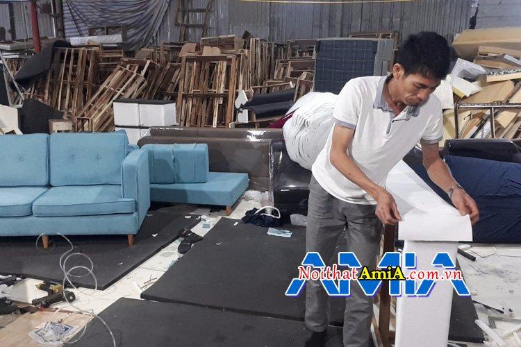 Xưởng sản xuất ghế sofa theo mọi yêu cầu riêng về kích thước, chất liệu, kiểu dáng của quý khách
