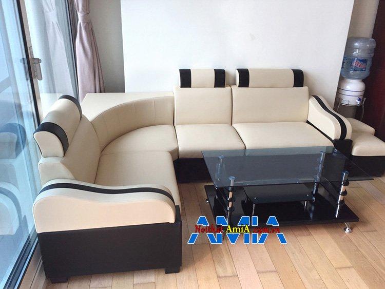 Hình ảnh Sofa giá rẻ cho phòng khách đẹp hiện đại thiết kế dạng góc nhỏ mini