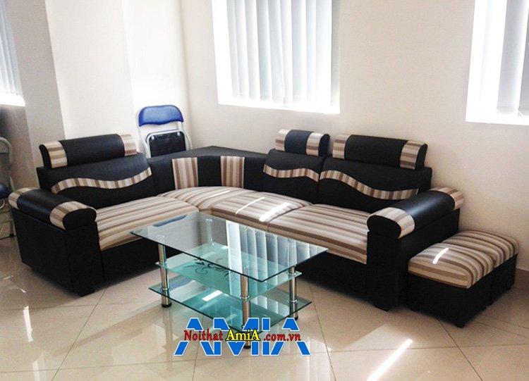 Hình ảnh Sofa phòng khách giá rẻ kiểu sofa góc nhỏ mini đẹp