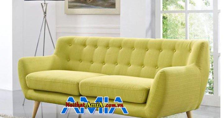 Mẫu sofa phòng khách màu xanh cực chất