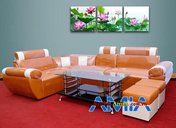 Ghế sofa đẹp giá rẻ dưới 3 triệu kê phòng khách AmiA 029