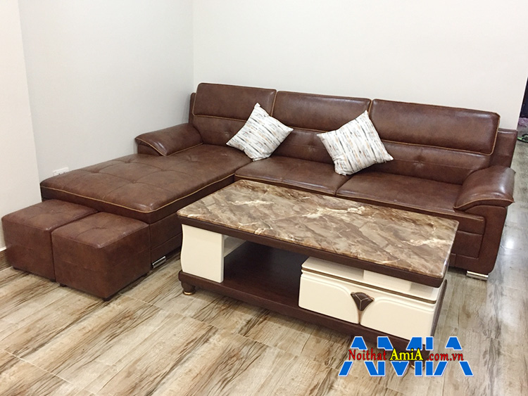 Hình ảnh Sofa Đê la thành mua tại AmiA với hình ảnh thực tế nhà khách