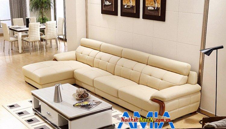 Hình ảnh Mẫu ghế sofa đẹp Bắc Ninh thiết kế dạng sofa da góc chữ L