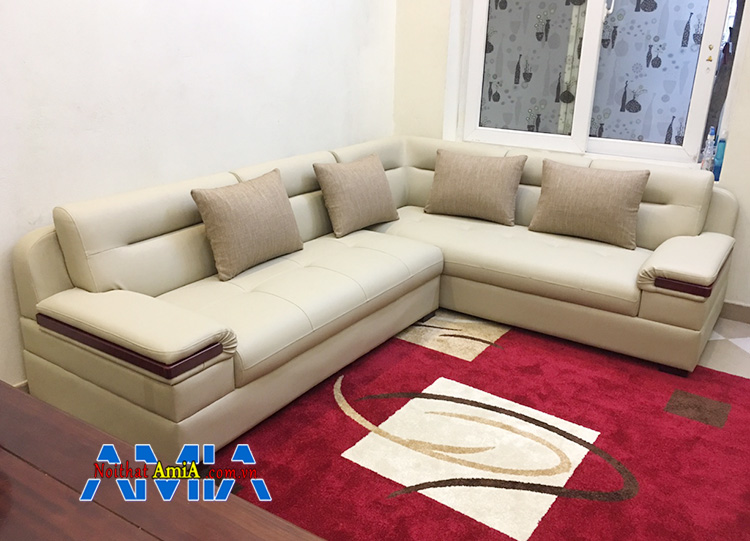 Hình ảnh Sofa Hoàng Quốc Việt thiết kế dạng sofa góc chất liệu da