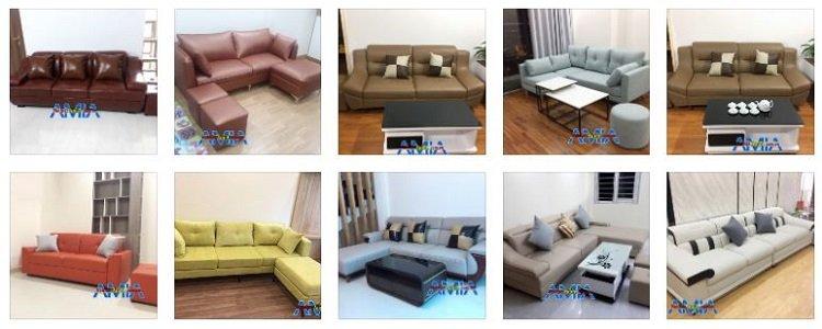 Hình ảnh mẫu ghế sofa đẹp tại xưởng giao khách hàng ở chung cư