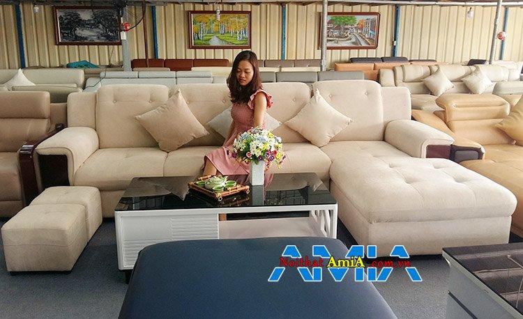 Hình ảnh bộ bàn ghế sofa Hà Nội cao cấp tựa đứng cao