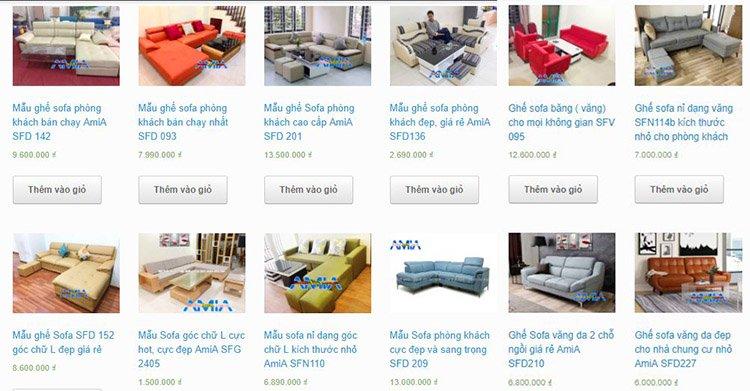 Hình ảnh báo giá sofa đóng theo yêu cầu tại xưởng