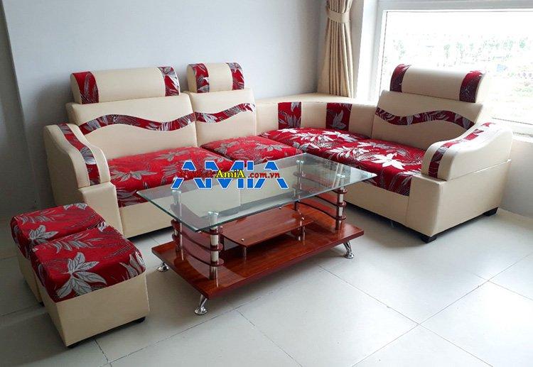Hình ảnh mẫu ghế sofa nhỏ gọn giá rẻ 2 triệu bọc nỉ