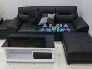 Mẫu ghế sofa văng chất liệu da cho phòng khách SFD237