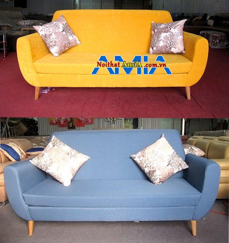 Ảnh mẫu ghế sofa văng nỉ giá rẻ 4 triệu nhiều màu sắc để chọn