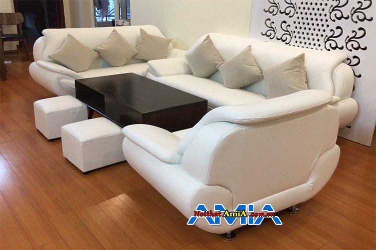 Bộ bàn ghế màu trắng sang trọng kê nhà biệt thự đẹp