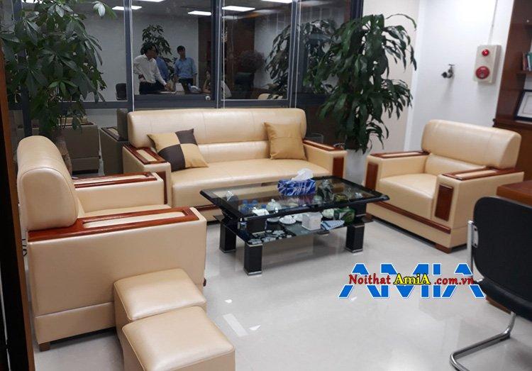Hình ảnh bộ sofa văn phòng làm theo yêu cầu