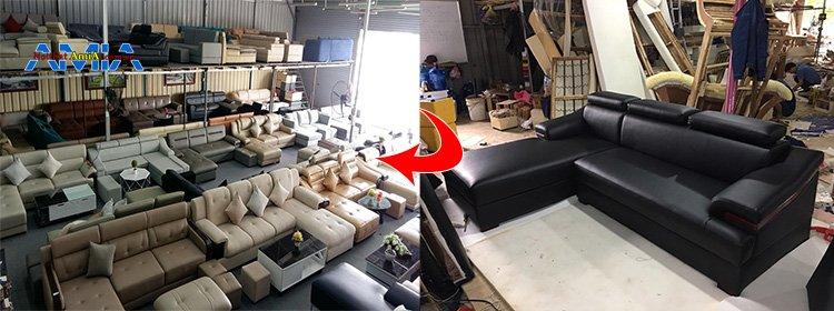 Ảnh Xưởng sản xuất sofa có kho trưng bày rộng cả ngàn mét vuông