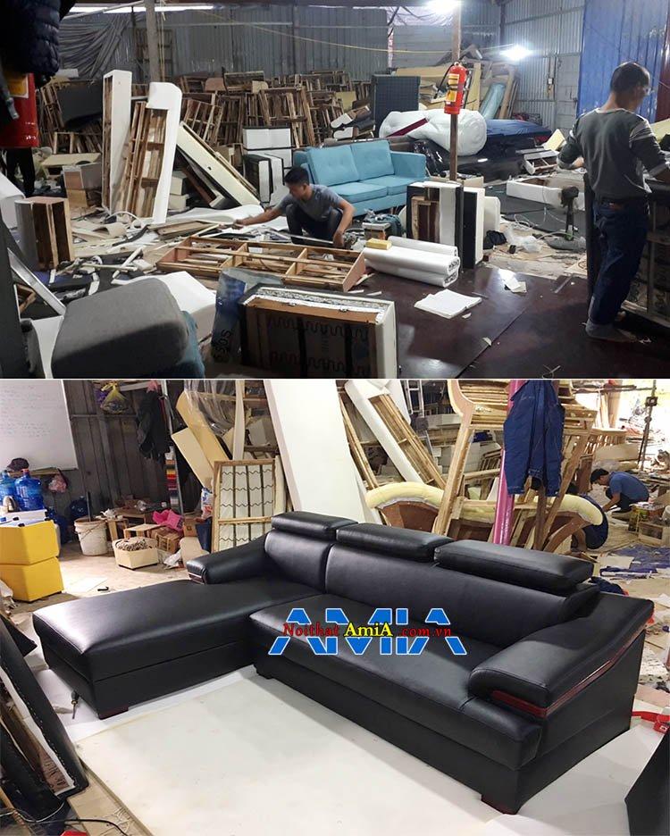 Ảnh chụp tại Xưởng sofa Nguyễn Xiển đóng theo yêu cầu