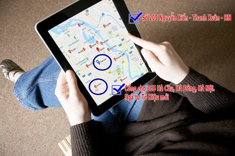 Tìm địa chỉ cửa hàng sofa bằng cách seach Google Map