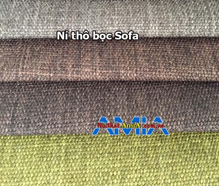 Hình ảnh chất liệu nỉ thô bọc sofa được sử dụng nhiều hiện nay
