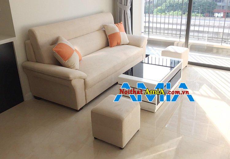Hình ảnh Ghế sofa nỉ đẹp nhỏ gọn hiện đại