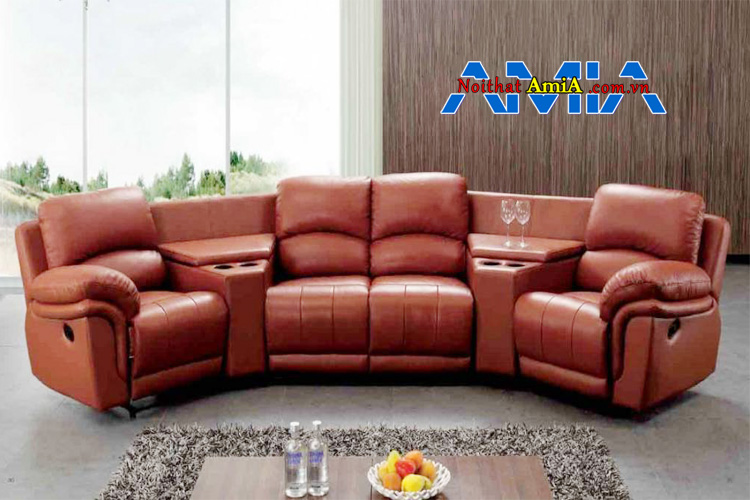 Mẫu ghế sofa da thật cao cấp sang trọng