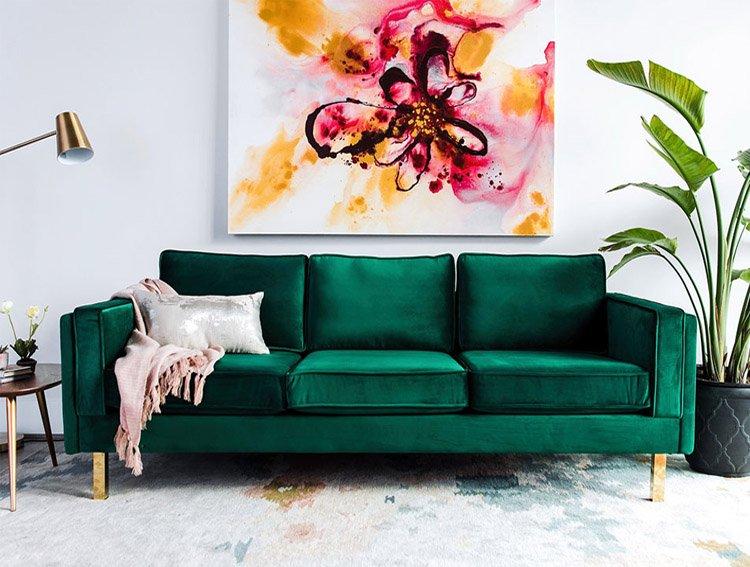Hình ảnh ghế sofa nỉ nhung đẹp hiện đại
