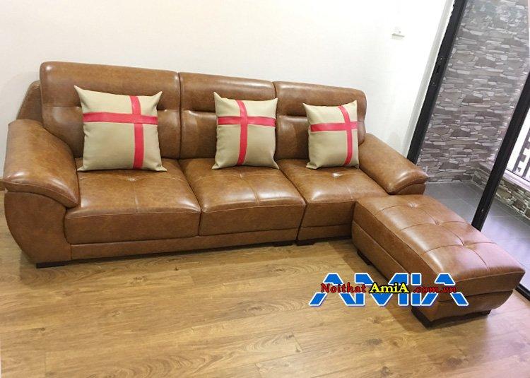 Mẫu sofa màu da bò phòng khách dưới 10 triệu