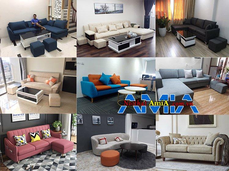 Nhiều mẫu sofa nỉ đẹp tuyệt vời bán chạy