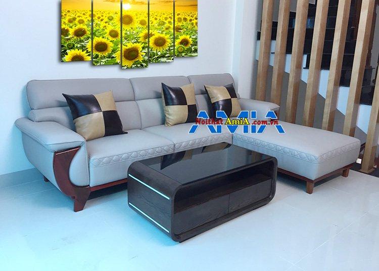 Mẫu 5: Ghế sofa da nhập khẩu Hàn Quốc tại Hà Nội