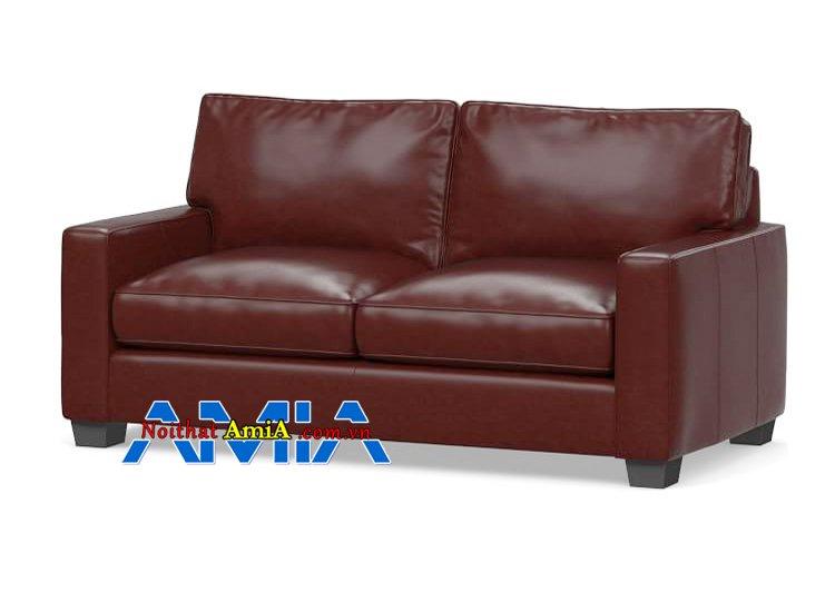 Hình ảnh ghế sofa da thật phòng khách nhỏ mini sang trọng
