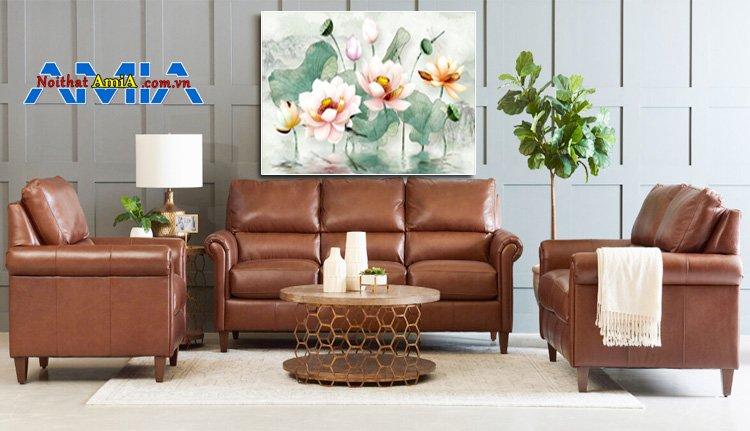 Hình ảnh ghế sofa da Thật tại Hà Nội phong cách Châu Âu