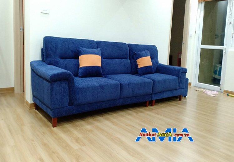 Hình ảnh Mẫu ghế sofa nhung 3 chỗ cho chung cư giá rẻ