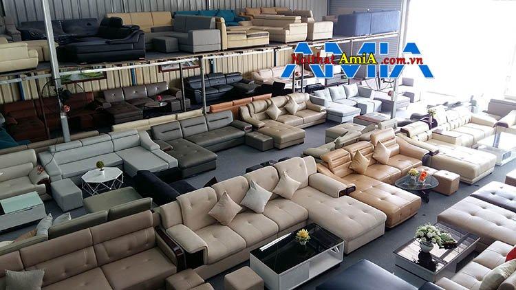 Sofa nỉ cả trăm bộ có sẵn tại địa chỉ bán sofa AmiA