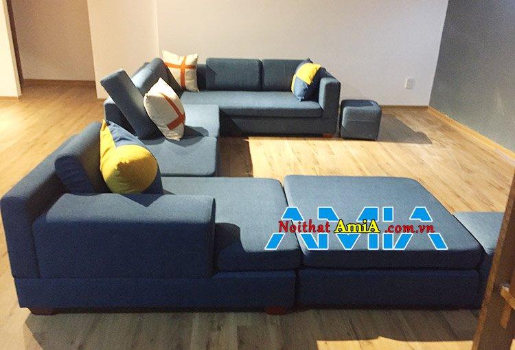 Ghế sofa nỉ kích cỡ lớn cho phòng khách