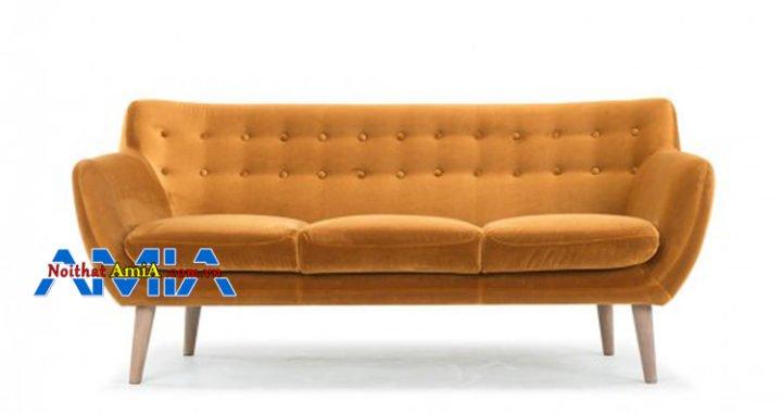 Ghế sofa văng 3 chỗ vàng cam đẹp