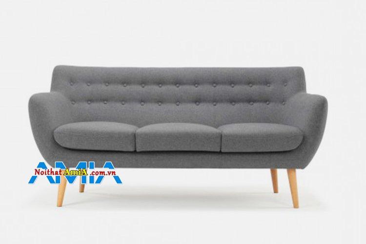 Sofa văng 3 chỗ xám lông chuột bán chạy
