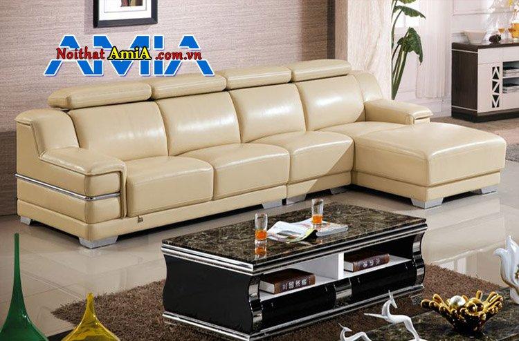 Bộ bàn ghế phòng khách đẹp AmiA SF1992135 màu kem