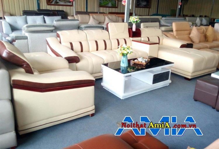sofa phòng khách sang trọng trên 10 triệu