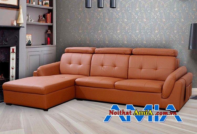 Ghế sofa phòng khách hiện đại màu đỏ cam