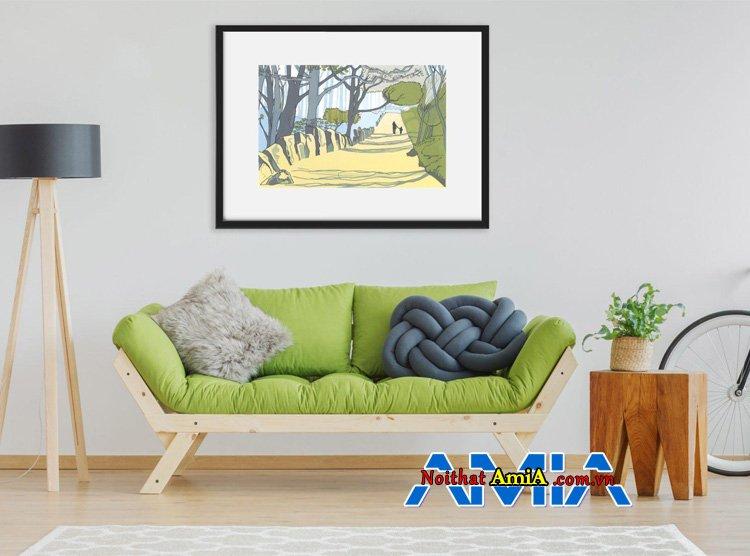 Ghế sofa màu xanh nõn chuối hợp mệnh Mộc