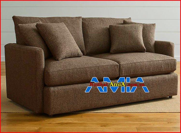 Hình ảnh ghế sofa nỉ màu nâu đẹp đệm êm