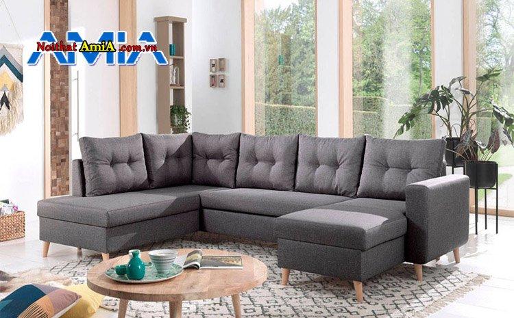 sofa phòng khách biệt thự chất liệu nỉ