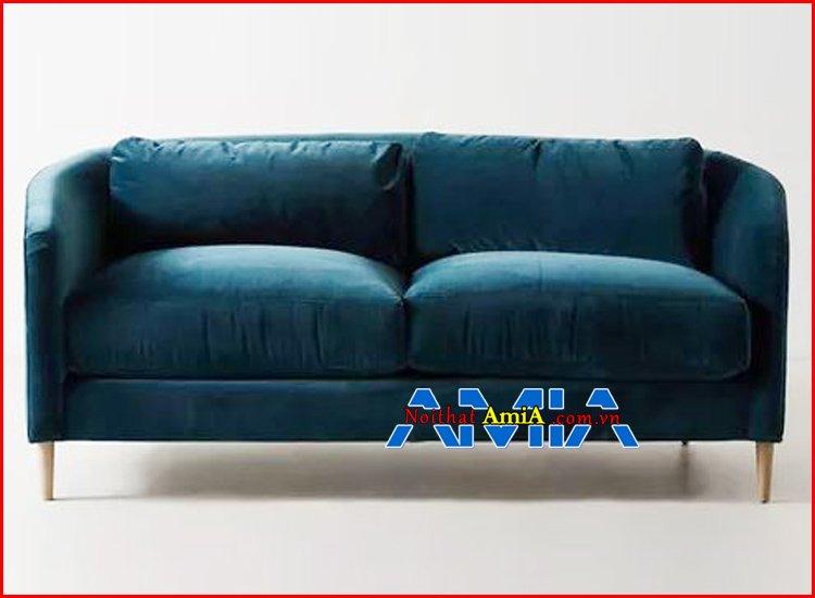 Hình ảnh ghế sofa vải màu xanh rêu đẹp