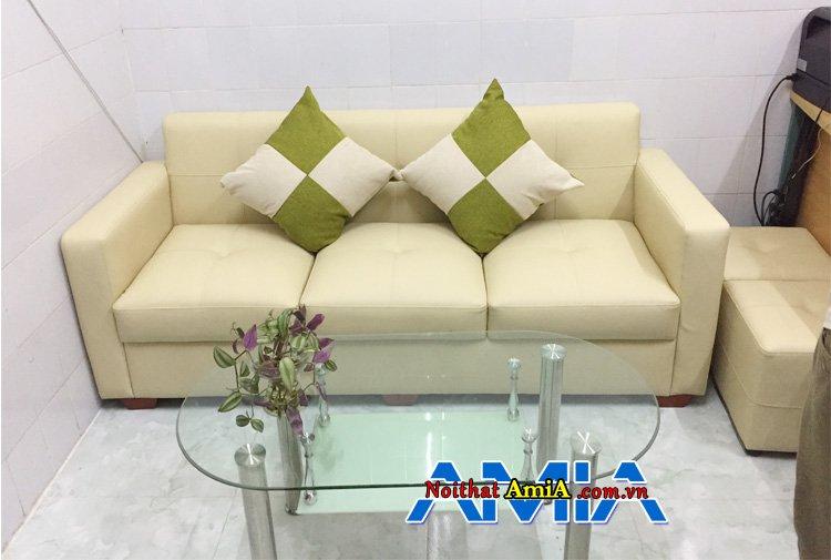 Ghế sofa phòng khách nhỏ gọn dạng văng 3 chỗ