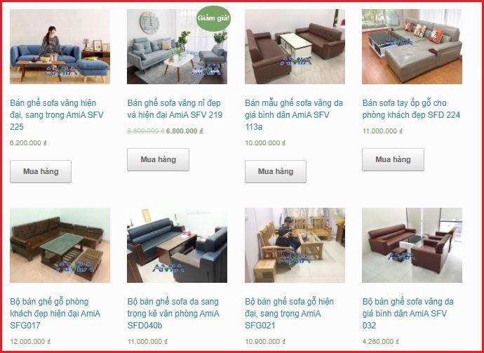 Mức giá bán ghế sofa chung cư năm nay