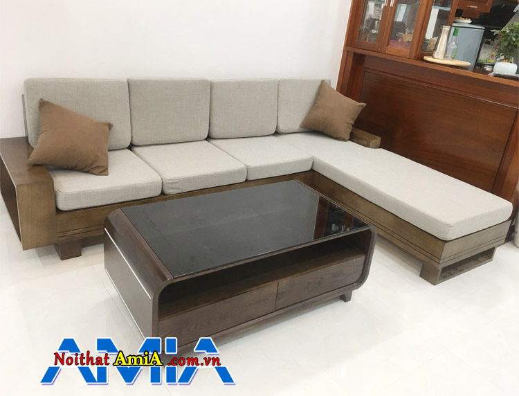 Bàn ghế phòng khách bằng gỗ Sồi